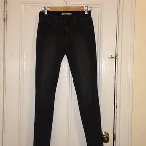 Levi's 710 Super Skinny Dark Grey Jeans (Size 26)